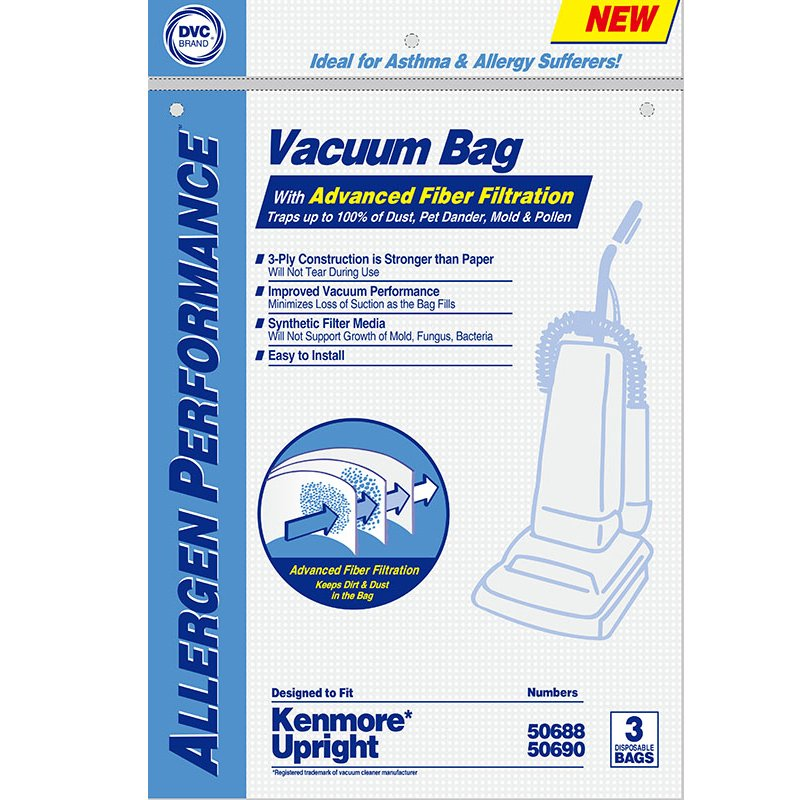 DVC Kenmore O 50688/50690 Synthetic Bags 3pk