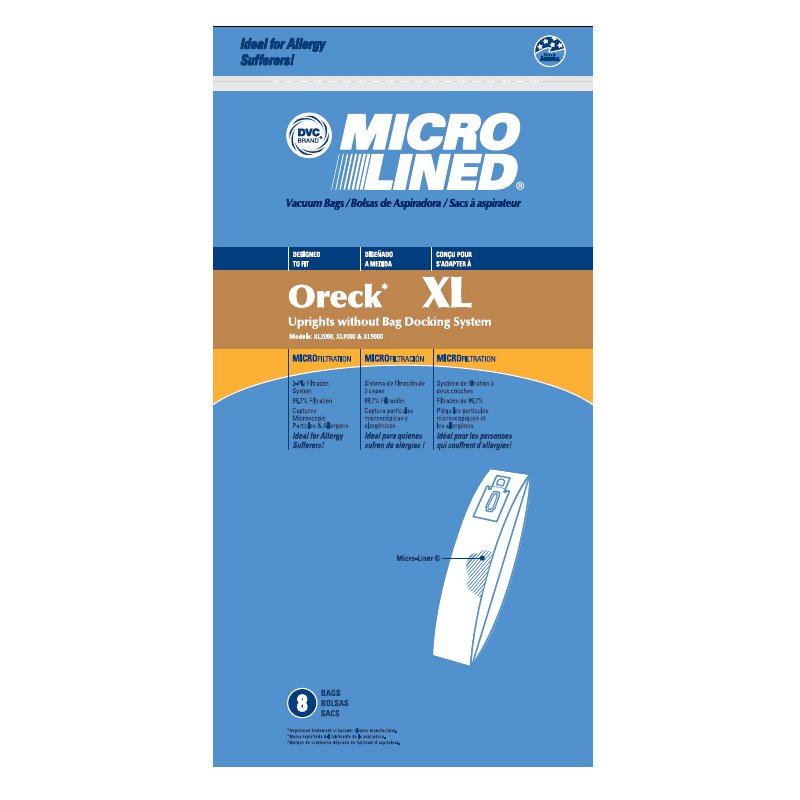 DVC Oreck XL Upright Microlined Bags 8Pk