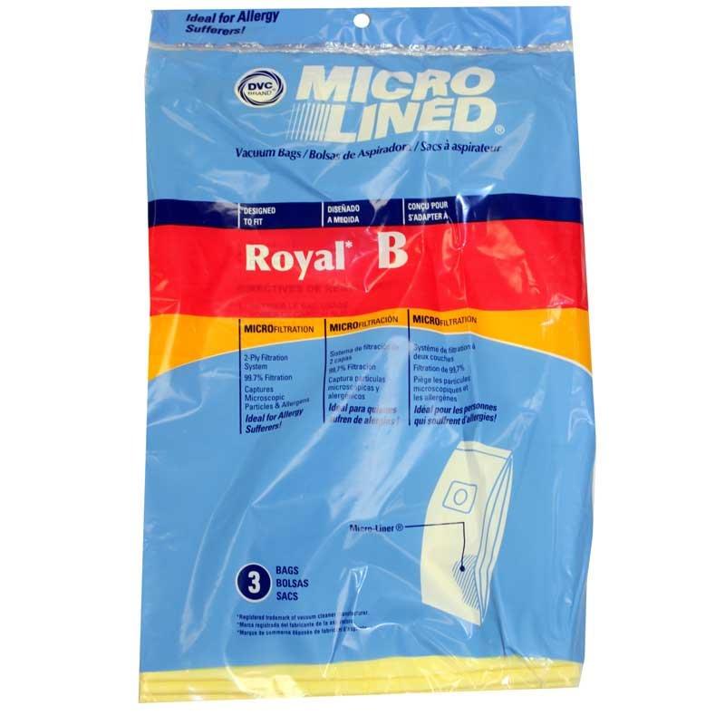 DVC Royal/Dirt Devil B Microlined Bags 3pk