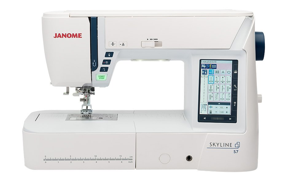 Janome Skyline S9 Indigo Sewing and Embroidery Machine