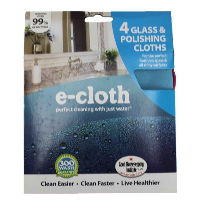 e-cloth 4 Glass & Polishing Cloths