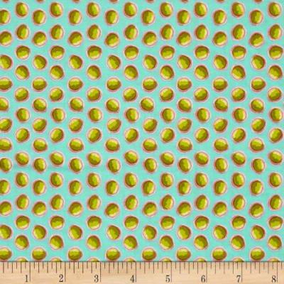 Tina Givens - Piecemeal - Screen Door - Aqua 100% Cotton - 44 Wide