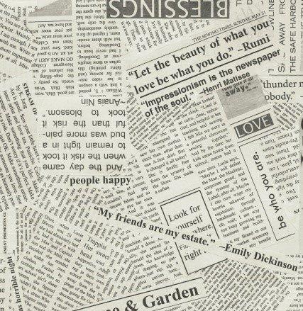 Spackle Newsprint - 100% Cotton - 44 Wide