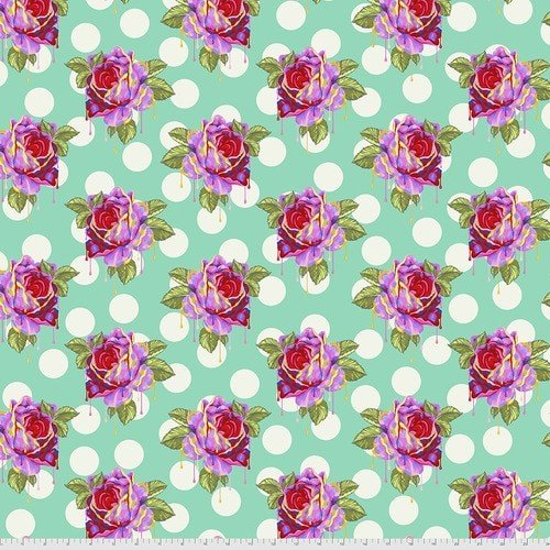 Curiouser & Curiouser  - Tula Pink - Painted Roses - PWTP161.WONDER