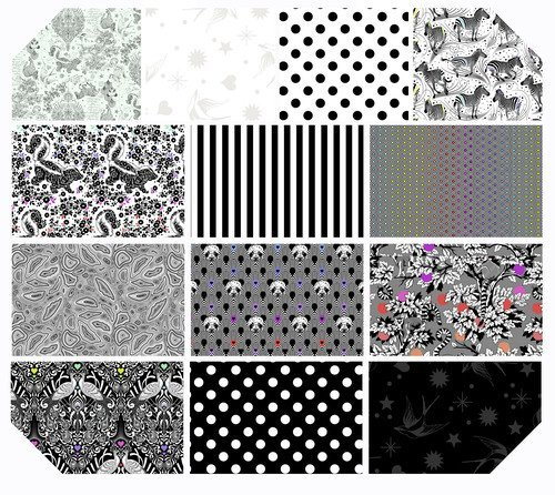 Linework by Tula Pink  - 10 Squares - Charm Pack