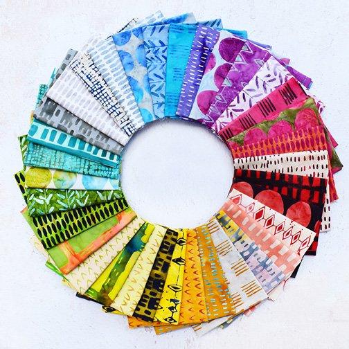 Marcia Derse - Here There - 34 Fat Quarters - Batik