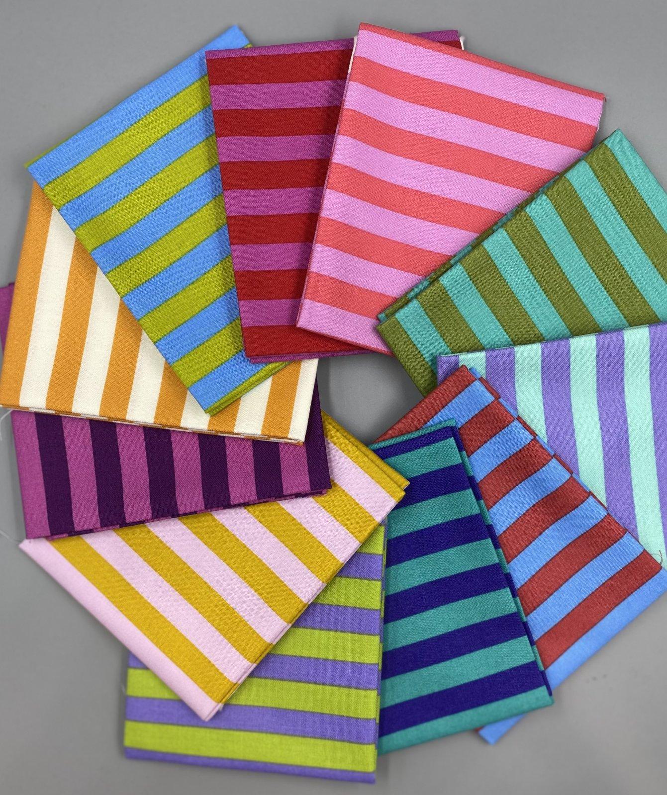 Tent Stripes Fat Quarter Bundle - Tula Pink - 11 Fat Quarters