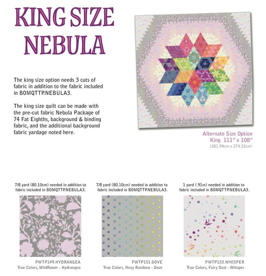 Nebula - Block of the Month - Make it King-size Kit - IN STOCK