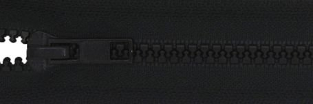 24 Seperating Zipper - Black