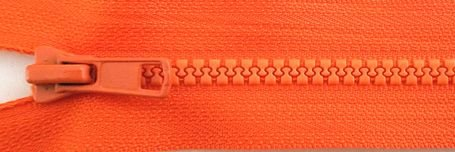 24 Seperating Zipper - Tangerine