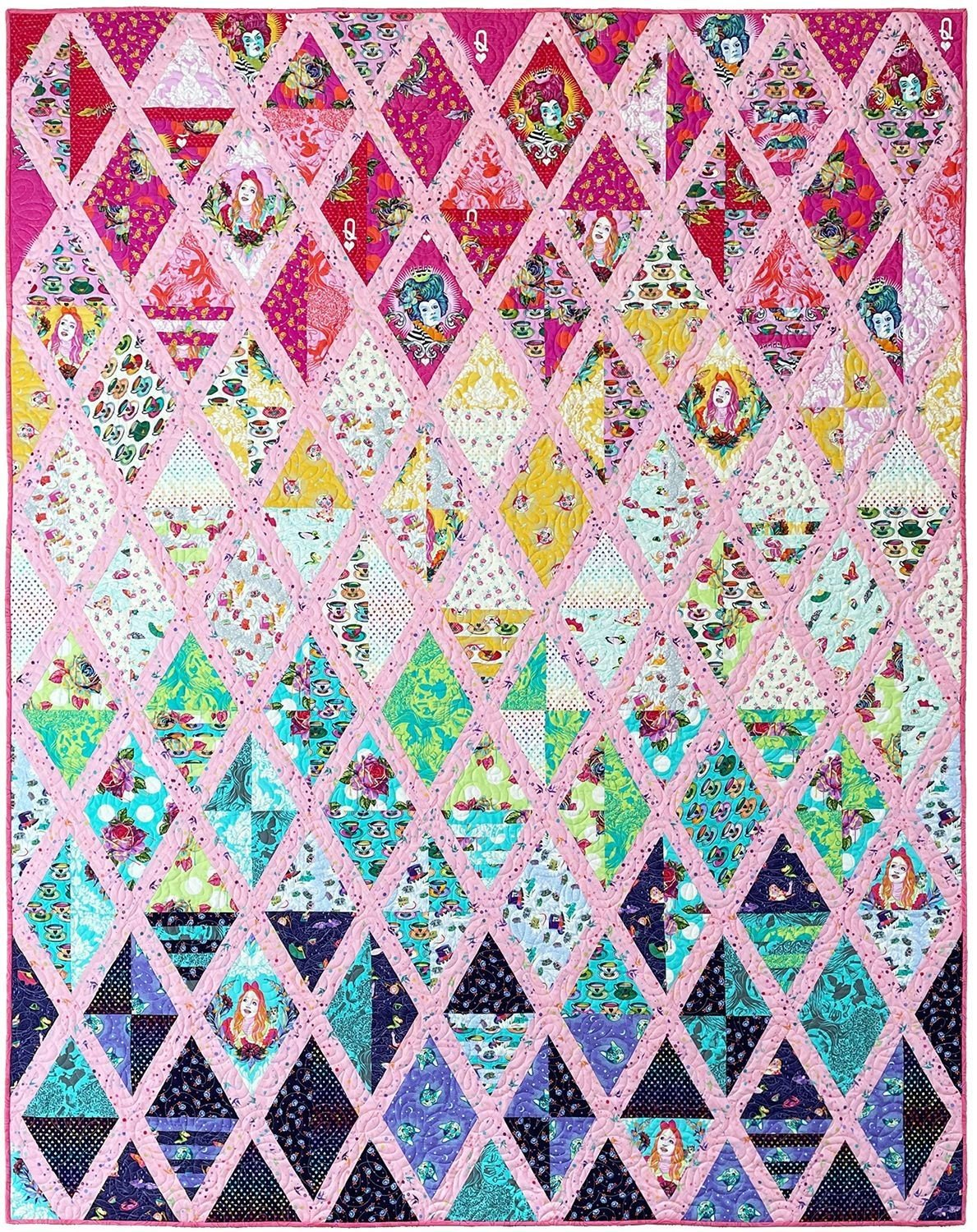 Set Sail Quilt Kit Made with Curiouser & Curiouser by Tula Pink - Twin Size - 69 x 90