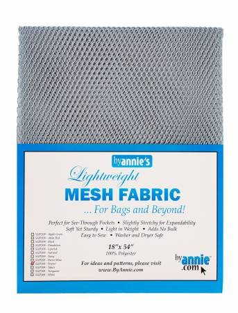 By Annie - Lightweight Mesh Fabric - Pewter - 18 x 54