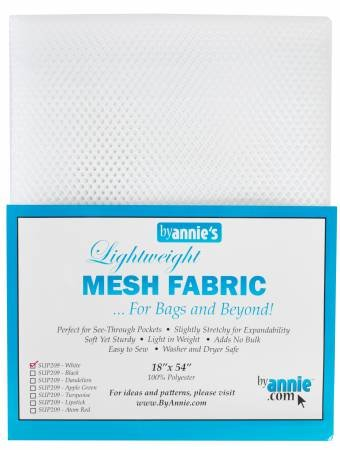 By Annie - Lightweight Mesh Fabric - White- 18 x 54