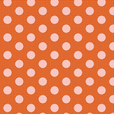 Tilda-Medium Dots Ginger - 100% Cotton - 1/2 yard