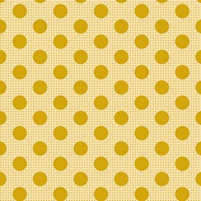 Tilda -Medium Dots FlaxenYellow - 100% Cotton - 1/2 yard