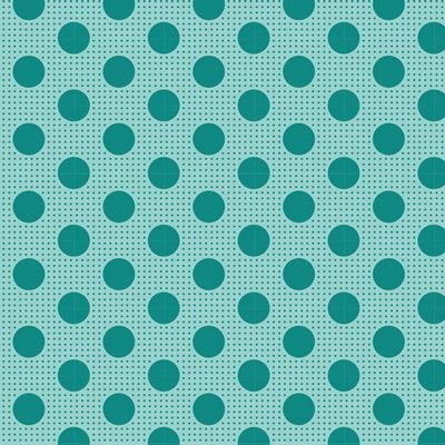 Tilda -Medium Dots Dark Teal - 100% Cotton - 1/2 yard