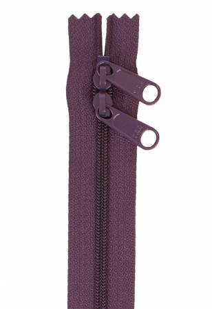 By Annie - Handbag Zipper 30 - Double-Slide - Eggplant
