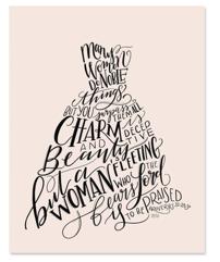 Proverbs 31:29-30 Print