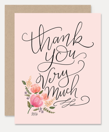 Greeting Card Thank You Very Much