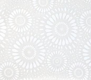 Lucky Medallion - White on White