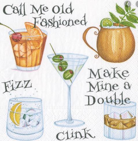 Cocktail Hour Cocktail Napkins