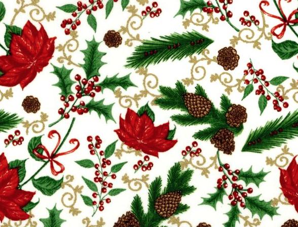 Merry Christmas Metallic - White