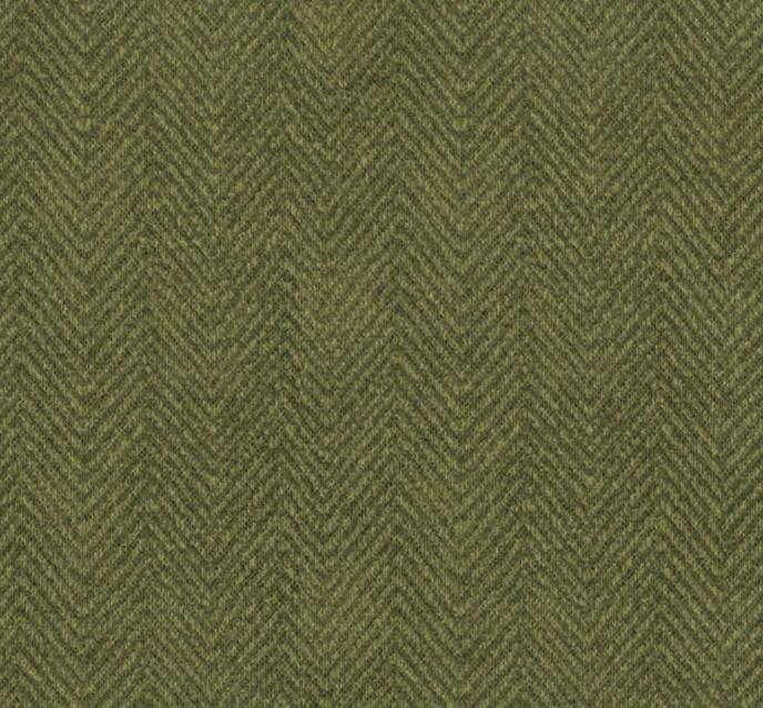 Woolies Flannel Green Pea Herringbone