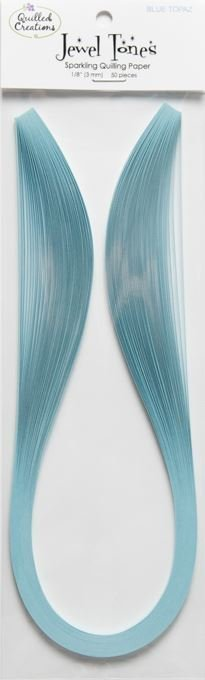 Quilling Paper Strips Jewel Tones - Blue Topaz