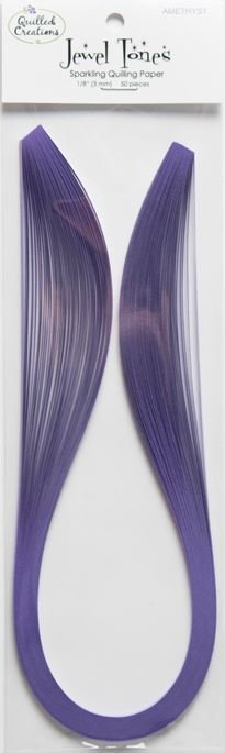 Quilling Paper Strips Jewel Tones - Amethyst