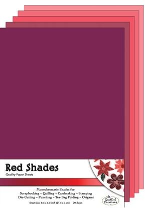 Red Shades Paper Sheets