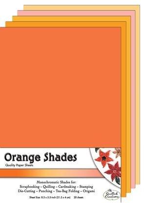 Orange Shades Paper Sheets