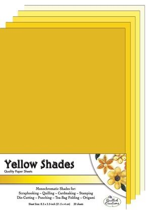 Yellow Shades Paper Sheets