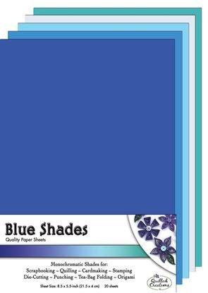 Blue Shades Paper Sheets