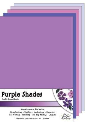 Purple Shades Paper Sheets