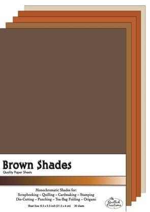 Brown Shades Paper Sheets