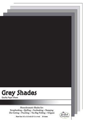 Grey Shades Paper Sheets