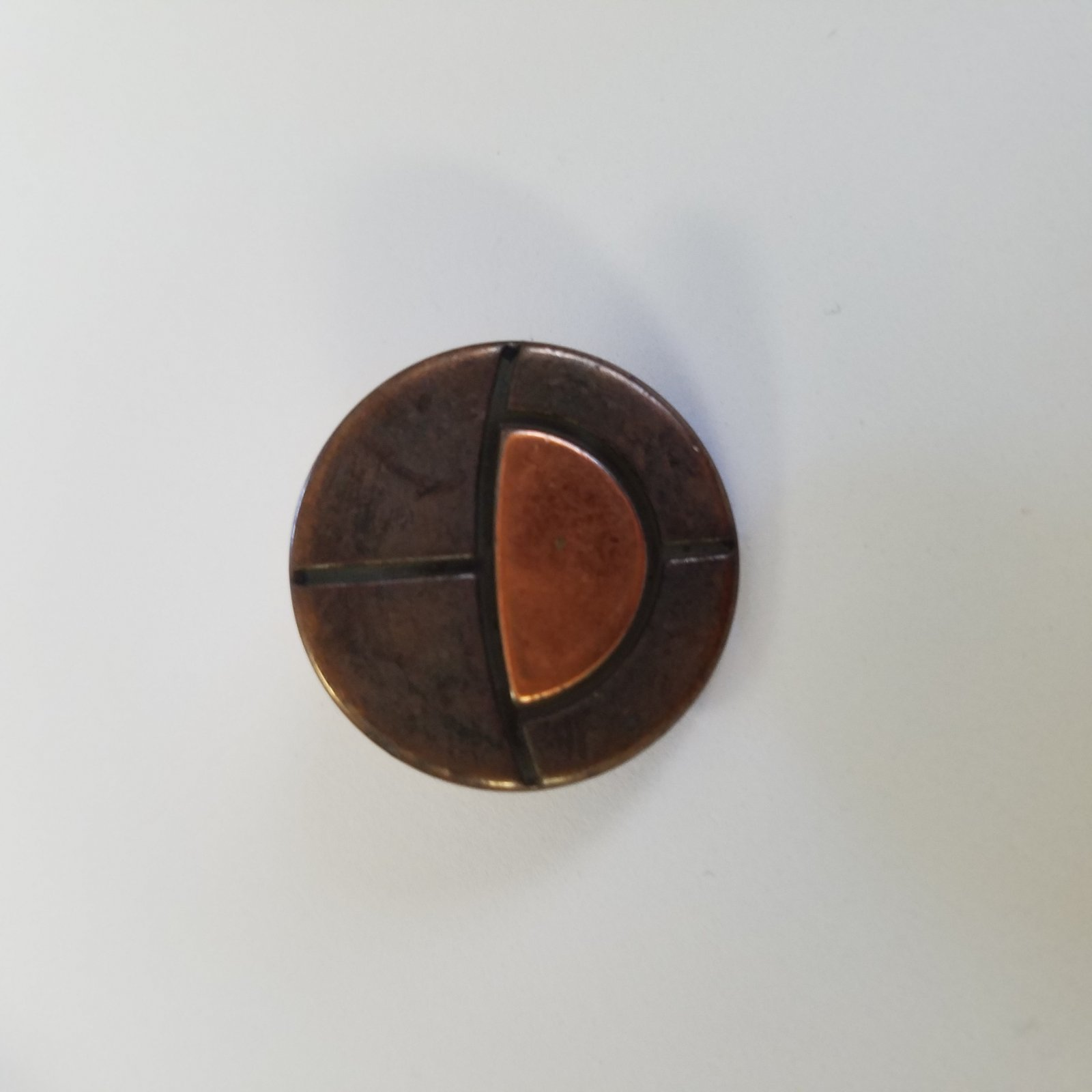 23 MM Large Round Brass Button