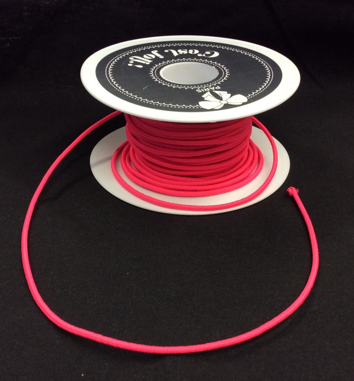 Elastic Cord 1/16 Pink