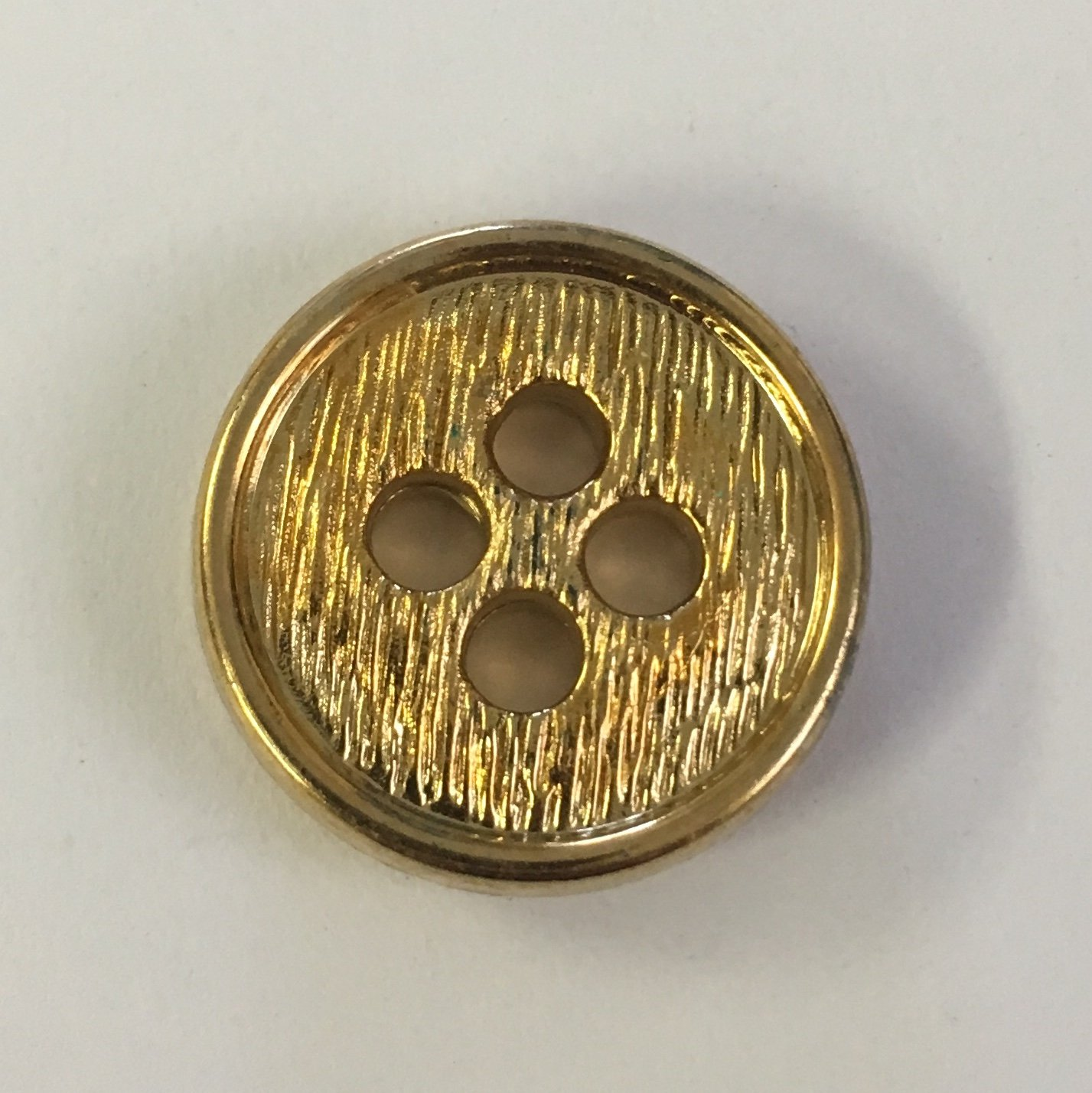 20 MM Gold 4 Hole Button