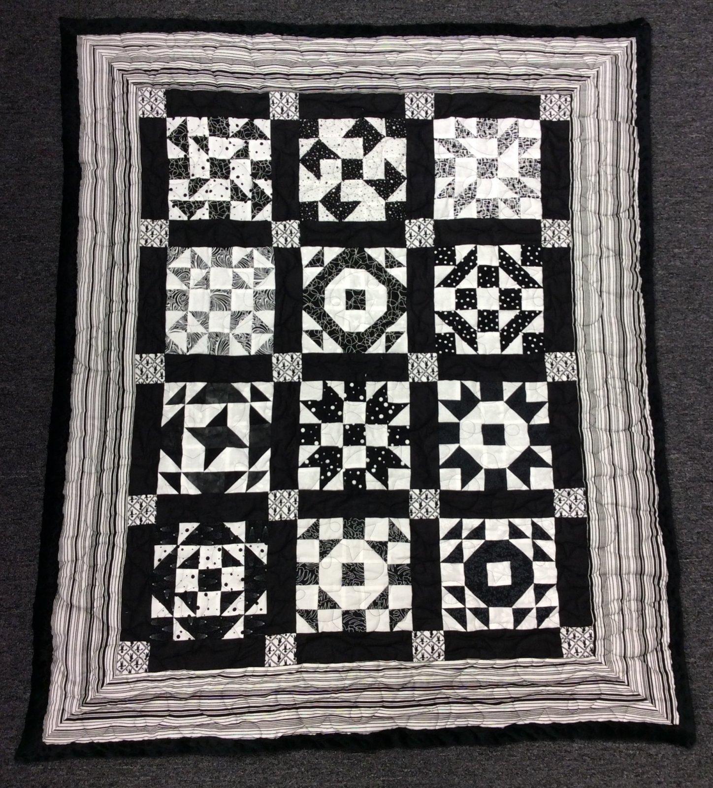 Black & White Quilt 39 x 47