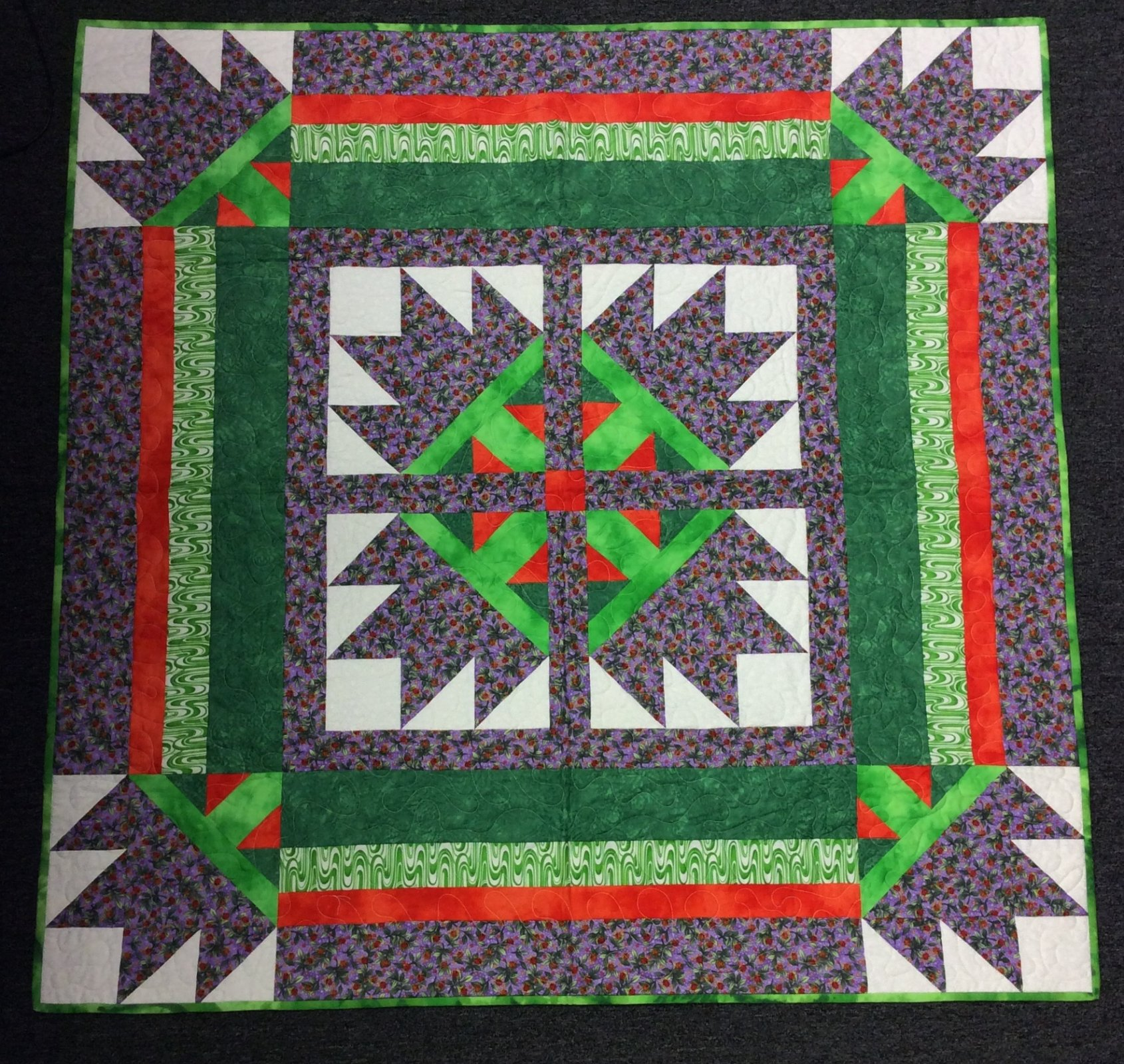 Green/Purple w/lady bugs Quilt