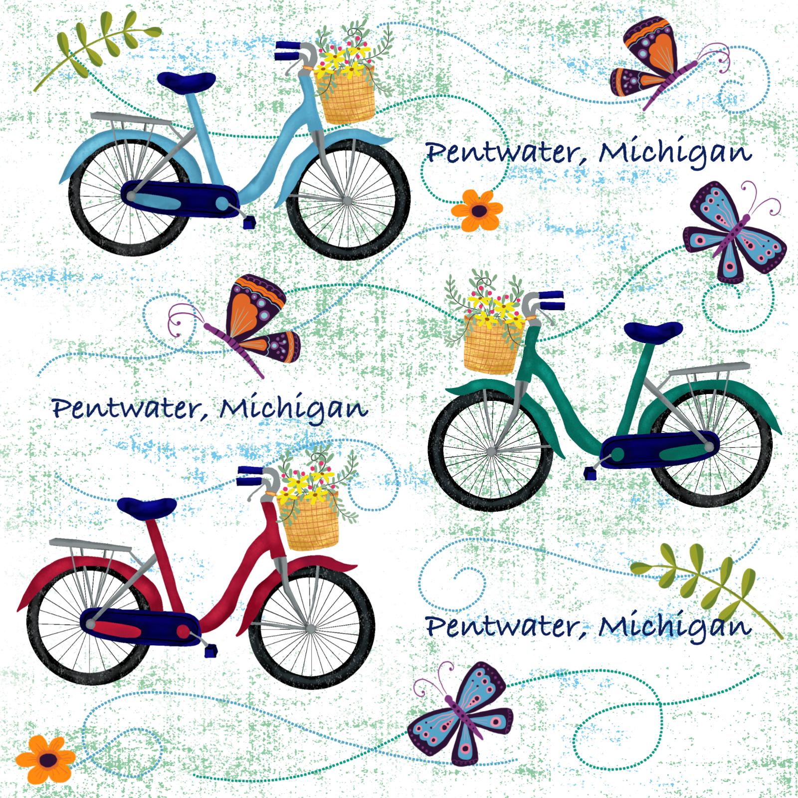 Pentwater Summer 2020 - Bikes (Cotton)
