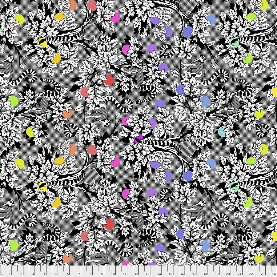 Tula Pink - Lineworks - Lemur Me Alone - Ink - PWTP154.INK
