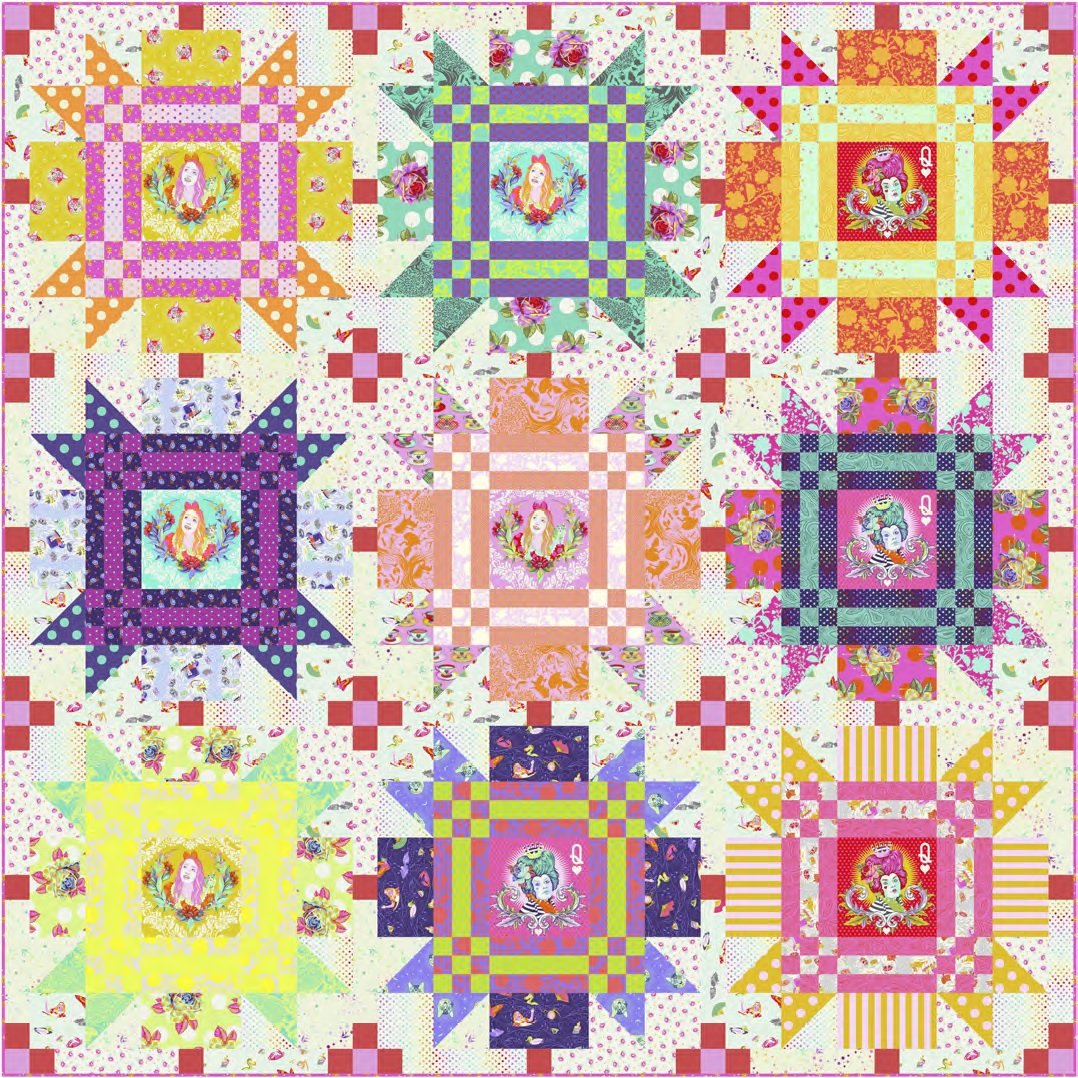 Pre Order - Checkmate Quilt Kit - Curiouser & Curiouser - Tula Pink - Free Spirit Fabrics