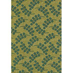 Benartex Floral Fancies - olive/teal - small