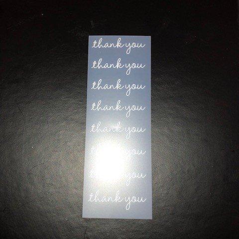 Rub-ons - thank you script