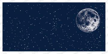 SLIMLINE Night Sky With Moon