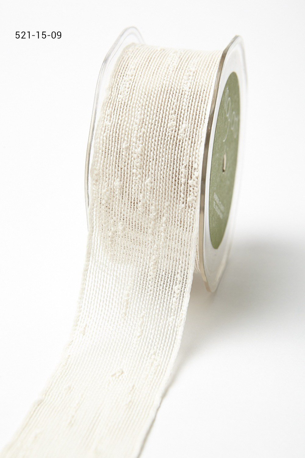 1.5 Inch Pulled Thread Ribbon with Woven Edge
