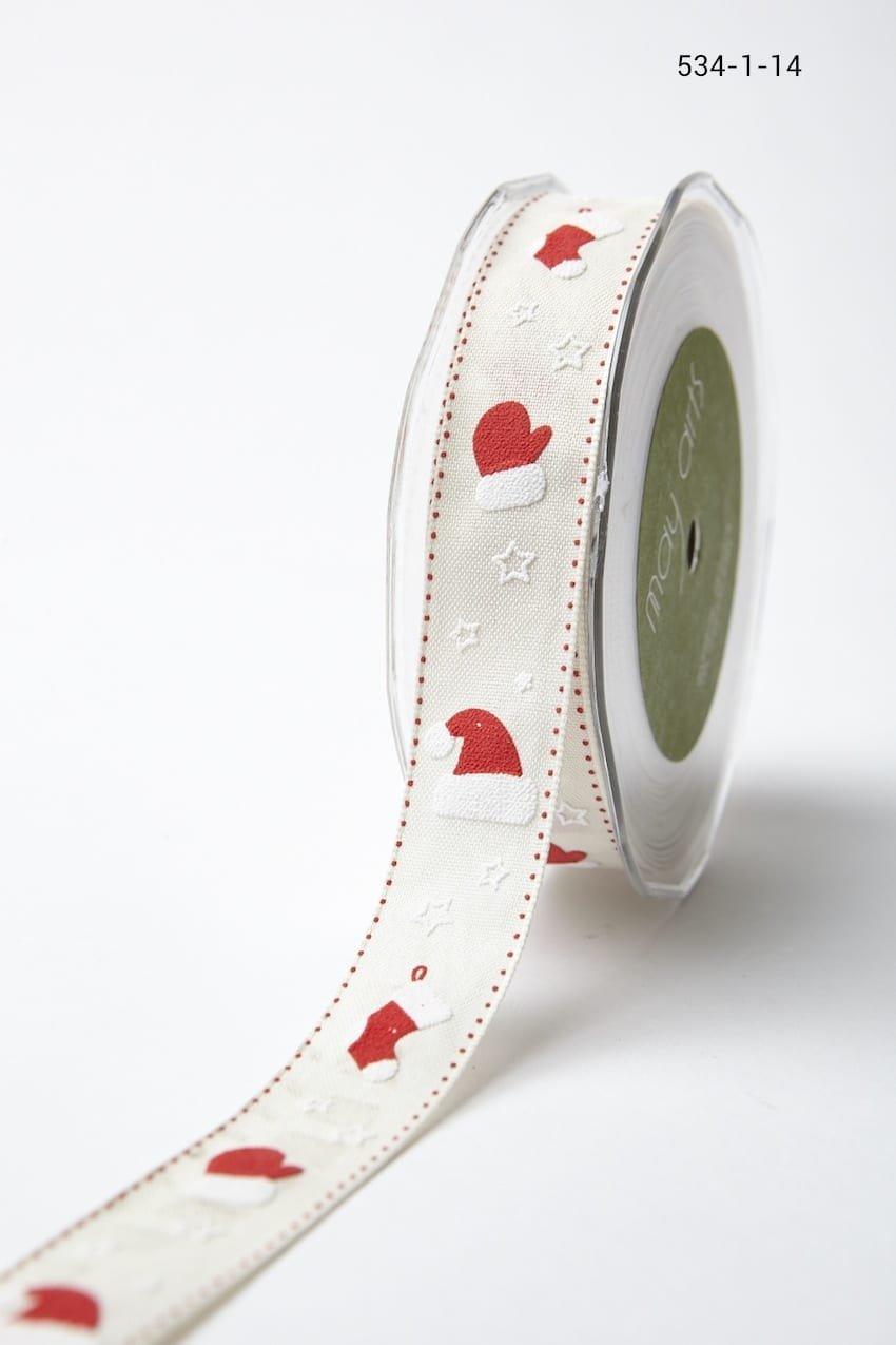 May Arts1 Inch Cotton Holiday Print Ribbon  Stockings