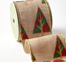 Deck The Halls Collection 5 Yards Retro Groovy Christmas Tree Wired Ribbon